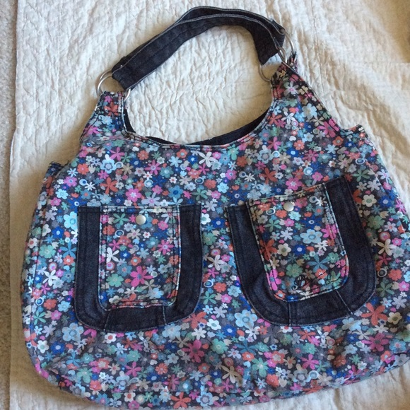 Urban Outfitters Handbags - Denim Floral Tote Purse